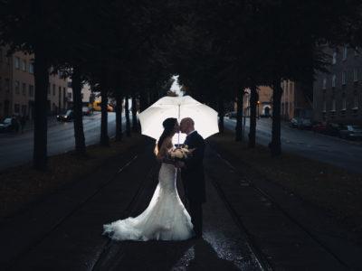 Bridal Preparation and Rainy Wedding Portraits in Helsinki